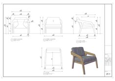 Bedroom Chair & Table on Behance Architecture Details, Interior Architecture, Cafe Interior, Interior Design, Bedroom Chair, Diy Chair, Cafe Design, Apartment Living, Furniture Design