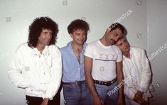 Queen in concert, Sanremo, Italy - Feb 1984 Andre Csillag/​Shutterstock Rose Queen, Queen Ii, Freedie Mercury, Queen Drummer, Brian Rogers, Princes Of The Universe, Roger Taylor Queen, Greatest Rock Bands, I Love My Dad
