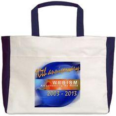 Webism Anniversary (2003 - 2013) Beach Tote on CafePress.com Reusable Tote Bags, Anniversary, Feelings, Beach, Fashion Design, Women, The Beach, Beaches, Woman