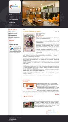 Diseño y desarrollo web para INDUALCA, joomla, css