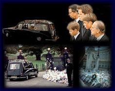 Photos of Princess Diana's funeral | princess diana index - her life and funeral - memorial pages