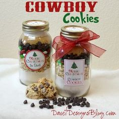 Recipe and actually fit in the Large mason jar! It's a keeper - will change out candies as the theme calls for.Great Recipe and actually fit in the Large mason jar! It's a keeper - will change out candies as the theme calls for. Mason Jar Cookie Mix Recipe, Mason Jar Mixes, Cowboy Cookie Recipe, Mason Jar Cookies, Large Mason Jars, Cookie In A Jar, Mason Jar Christmas Gifts, Homemade Christmas Gifts, Christmas Ideas