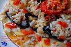 Sud Italia in Cucina: Tiella di Riso Patate e Cozze - Tiedd d Ris Patan e Cozz