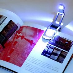 Black Flexible Folding LED Clip on Reading Book Light Lamp for Reader Kindle