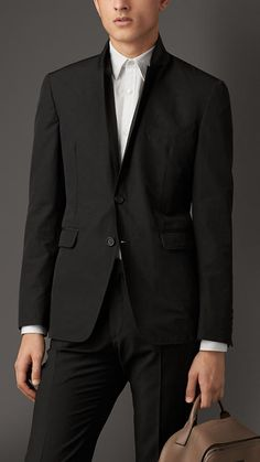 Burberry London Slim Fit Cotton Blend Blazer