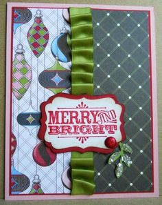 by stampcandy - Cards and Paper Crafts at Splitcoaststampers Christmas In July, Christmas Cards, Santa Letter, Merry And Bright, Stampin Up Cards, Handmade Cards, Cardmaking, Paper Crafts, Craft Ideas