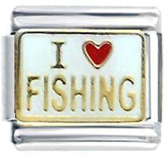Italian Charms - i heart fishing italian charm bracelet Image.