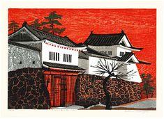 1962 - Kasamatsu, Shiro - Castle in Red Sunset