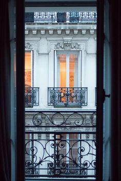 Paris Window at Dusk. Paris Evening View #paris #pariswindow #parisphoto #rebeccaplotnick