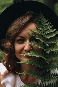 Annija Veldre Photography  model greenery close up portrait green summer