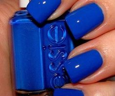 Essie Electric Blue Nails