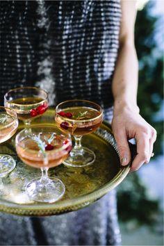 elegant holiday cocktails