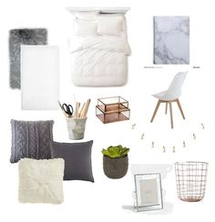 """""""Deco for my bedroom in my dad's house"""" by alexchokolate ❤ liked on Polyvore featuring interior, interiors, interior design, home, home decor, interior decorating, NKUKU, Threshold, Pom Pom at Home and Martha Stewart"""