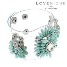 large turquoise crystal flower bracelet #lovenichelondon #crystal #jewellery #accessories