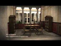 Casa do Fauno en Pompeia. Reconstrución en 3d.