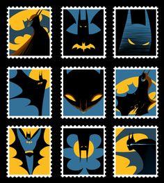 Batman Stamps. by ~koinogenki