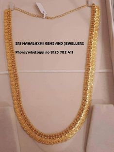 Jewelry OFF! 47 gms Nakshi work plain Gold kasu haaram visit us or call on for full variety at wholesale prices 8125782411 Sri Mahalaxmi Gems and Jewellers Secunderabad Gold Bangles Design, Gold Jewellery Design, Gold Earrings Designs, Bead Jewellery, Beaded Jewelry, India Jewelry, Jewelery, Latest Jewellery, Necklace Designs