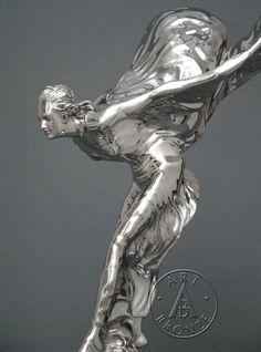 Medium (up to Nudes US Statue Art Sculptures for sale Rolls Royce Logo, Rolls Royce Cars, Steel Sculpture, Sculpture Art, Classic Sports Cars, Classic Cars, Rolce Royce, Rolls Royce Silver Spur, Car Hood Ornaments