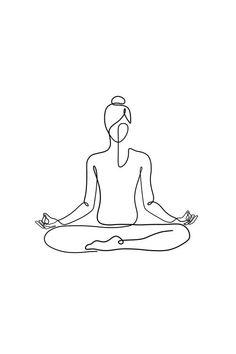 Namaste Art, Namaste Yoga, Art And Illustration, Yoga Inspiration, Lottus Tattoo, Big Canvas Prints, Yoga Drawing, Yoga Tattoos, Yoga Art