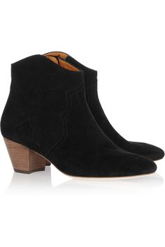 Isabel Marant- Dicker suede ankle boots in Black.