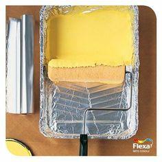 Wil je je verfbakje vaker gebruiken? Leg deze dan in met aluminiumfolie. Na het schilderen weer zo goed als nieuw! Heb jij nog zo'n handige verftip?
