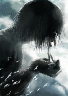 Mikasa and Eren. It'll be interesting to see how their relationship develops as Eren learns to control his titan state.