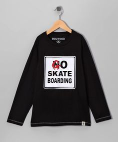 Take a look at this Black 'Go Skateboarding' Tee - Infant, Toddler & Boys by Dogwood on #zulily today!