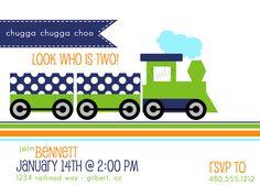 Printable Party Invite  Train birthday party by FreshChickDesigns, $15.00