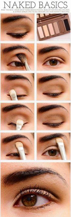 Natural Look - '' NAKED BASICS '' Makeup for Smokey Eyes Tutorials