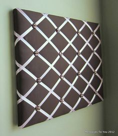 16x20 Memory Board in brown and pink.