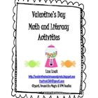 {FREE} Huge Packet of Valentine's Day Themed Math and Literacy Activities!  *27 different activities, 51 pages, and a Valentine's Day book list!*