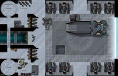 The Mobilization Deck presents a special forces deployment hangar, part of my Battle Stations maps series!