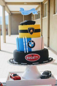 Birthday Cake years old 8th Birthday Cake, Bithday Cake, Race Car Birthday, Race Car Party, Cars Birthday Parties, Lamborghini Cake, Ferrari Cake, Motorcycle Birthday Cakes, Bmw Cake