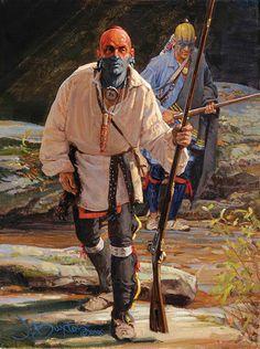 "John Buxton painting - Eye of the Hawk 12"" x 9"" oil"