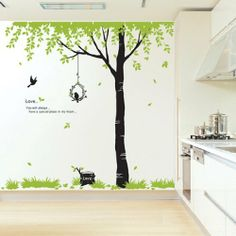 Reusable Removable Decoration Wall Sticker Decal- Tree by Go-RetailShop, http://www.amazon.com/dp/B00870VGOY/ref=cm_sw_r_pi_dp_2U3yrb016EAJD