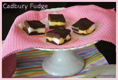 Cadbury Egg Fudge
