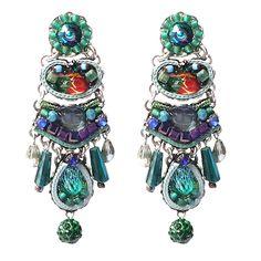 """Pendiente """"Emerald Cove Jupiter"""" de 5,5 cm de Ayala Bar colección Classic"""