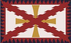 Bandera de infanteria. Tercios de Flandes. Tercio de Alburquerque.