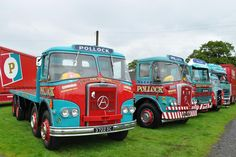 Pollock line up Train Truck, Road Train, Cool Trucks, Big Trucks, Bedford Truck, Old Lorries, Army Vehicles, Heavy Truck, Commercial Vehicle