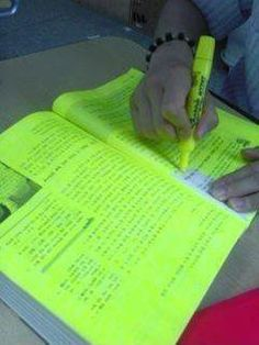 """Only highlight the important parts"""
