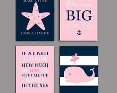 toddler girls nautical bedding   Baby girl nursery decor, Navy pink Nautical Nursery Art, Girl Nursery ...