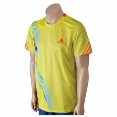 Adidas Men's Tennis Adizero Crew Short Sleeve Shirt-Lablime-Large adidas. $35.00