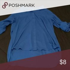 Women's Top Button down blouse; long sleeves but can be rolled up; breast pocket on both sides of chest. Apt. 9 Tops Button Down Shirts
