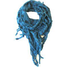 Skull Scarf Blue | Gothic Clothing | Emo clothing | Alternative... ($9.21) ❤ liked on Polyvore