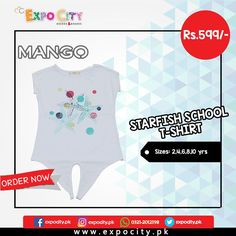 Product: Starfish School Shirt  Brand: Mango  Price: Rs. 599  #Children #Girls #Dress #Shirts #Tshirts Tops #Karachi #Lahore #Islamabad #OnlineShopping #ExpoCity #Kids #BabyGirls #CashOnDelivery #Apparel #PartyWear #Pakistan #PakistanShopping #Stylish #Plain #Casual #Colorful #Mango