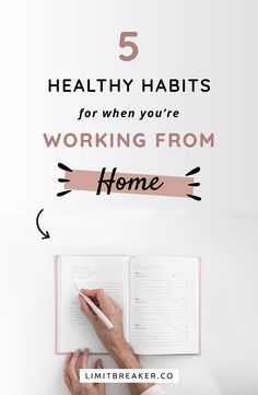 5 Healthy Habits for When You're Working From Home 5 work from home healthy habits and tips that you can implement to be more productive and have a better work from home routine. Work from home office Intelligent Design, Work From Home Tips, Make Money From Home, Home Work, Diy Horse, Stress, Time Management Tips, Design Blog, Do It Yourself Home