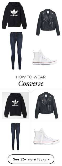 """Untitled #8907"" by andreeascafariu on Polyvore featuring J Brand, adidas, Converse and MANGO"