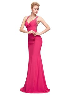 Backless Sequins Bodycon Cross Back Long Evening Dress
