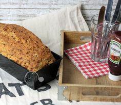 ein Rezept für Pizzabrot auf meinem Blog Rice Noodles, Banana Bread, French Toast, Veggies, Vegetarian, Healthy Recipes, Meals, Snacks, Dishes