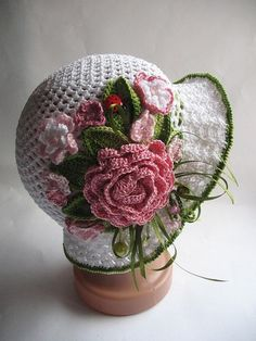 crochet vintage hat